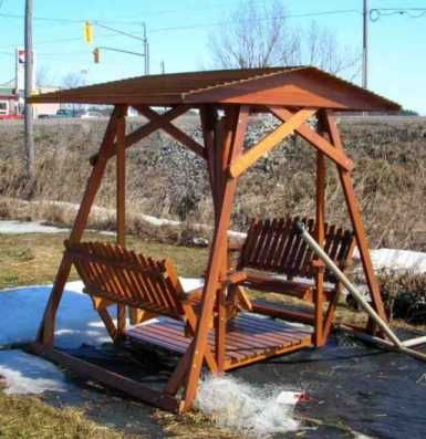 Plans for a Deluxe Garden Swing | Outdoor diy projects, Outdoor .