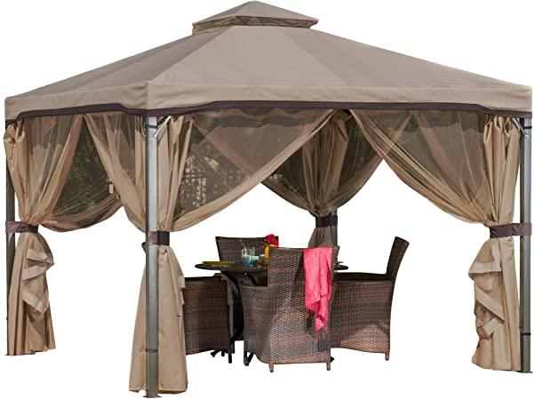 Amazon.com : Christopher Knight Home Sonoma Canopy Gazebo, 10 x 10 .