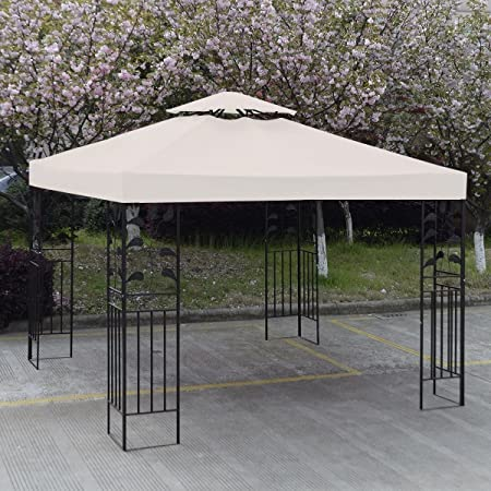 Amazon.com: GH 10' X 10' Gazebo Replacement Canopy Top Cover .
