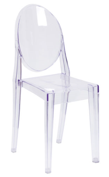 Ghost Chair- Clear $10.00 | Party Rentals Deliver
