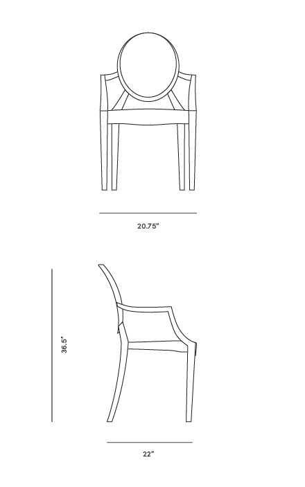 Louis Ghost Armchair | Philippe Starck | Reproducti
