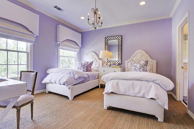 Purple Shared Girls Bedroom - Transitional - Girl's Ro