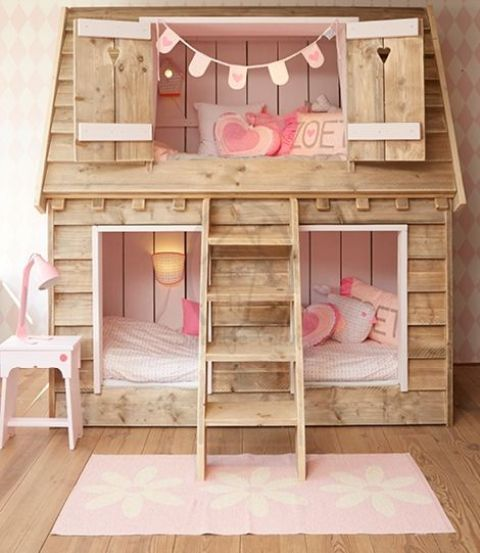 23 Cutest And Comfiest Beds For Little Girls | Girls bunk beds .