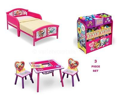 PAW PATROL Bedroom Furniture Set GIRLS Toddler Bed Room Toy .