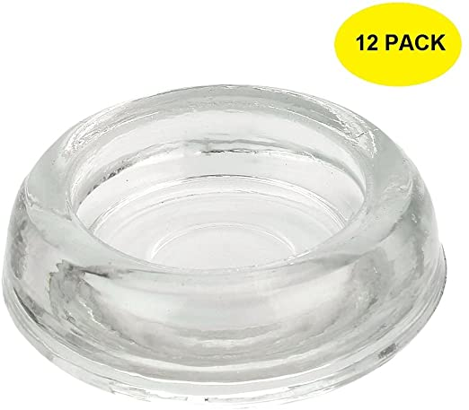 Amazon.com: 3 Inch Dia. 12-Pack Clear Glass Furniture Coasters .