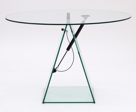 Konstantin Grcic designs moving glass furniture for Galerie Kr