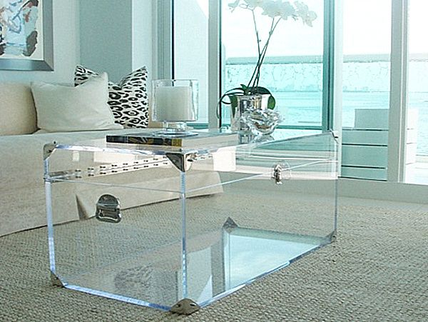 20 Chic Acrylic Coffee Tables | Lucite furniture, Acrylic .