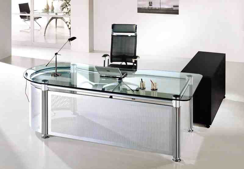 Glass Office Table | Glass desk office, Glass office furniture .