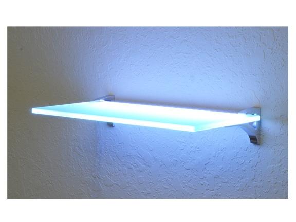 "Lighted Glass Shelves Kit 8""x18"" | Glowback L"
