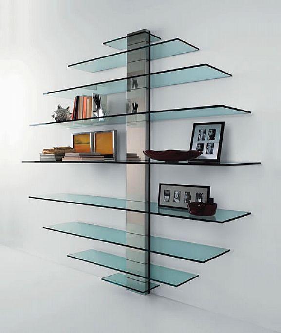 New Trend Floating Glass Shelves | Ikea floating shelves, Floating .