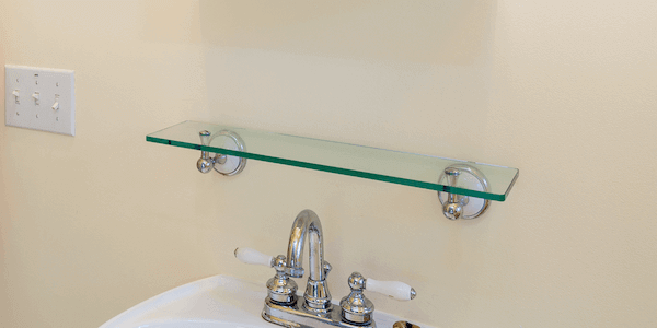 Floating Rectangle Glass Shelves, Colored Rectangle Floating Glass .