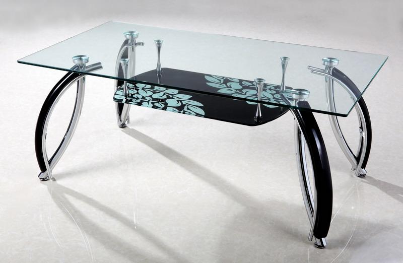 living room: Glass table design