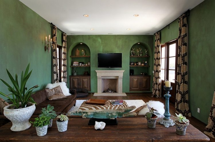 20 Gorgeous Green Living Room Ide