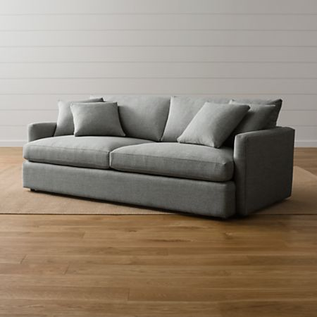 Lounge II Grey Couch + Reviews | Crate and Barr