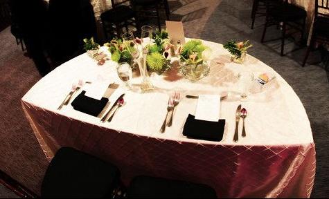 "48"" Half Moon Table | Platinum Event Renta"