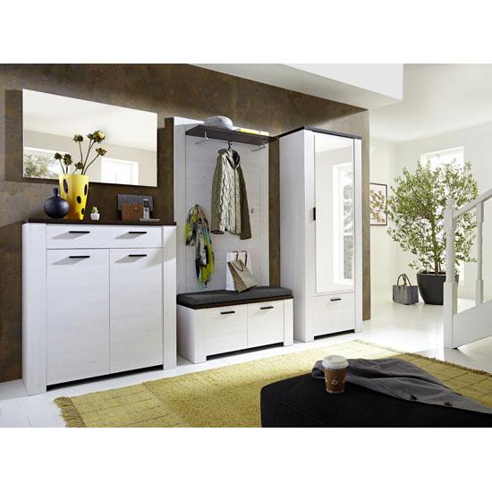 Hampton Shoe Storage Cabinet In Larch and Oak Havanna | Furniture .
