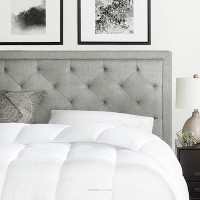 Brookside Diamond Tufted Stone Queen Upholstered Headboard at .