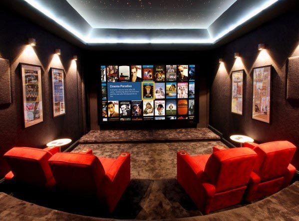 Top 40 Best Home Theater Lighting Ideas - Illuminated Ceilings and .