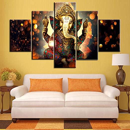 Amazon.com: TUMOVO Ganesha Paintings House Decorations Living Room .