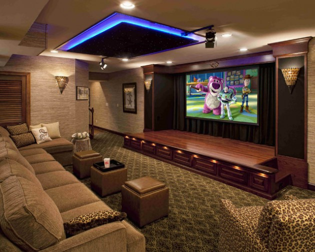 22 Contemporary Media Room Design Ide