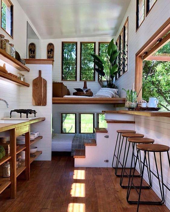 55+ Stunning Tiny House Interior Design Ideas | Tiny house living .