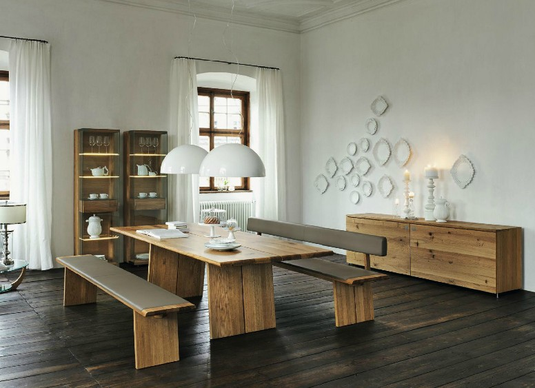 Wooden furniture in a Contemporary Setti