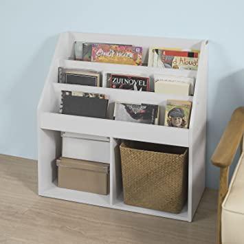 Amazon.com: Haotian White Children Kids Bookcase Book Shelf .