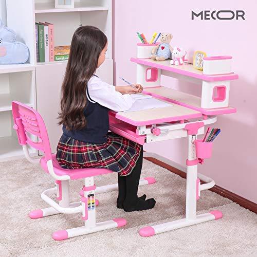 Mecor Kids Desk and Chair Set w/Bookshelf,Child Student School .