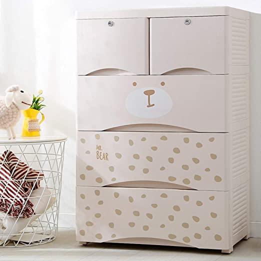 Amazon.com: Nafenai Plastic Drawer Dresser for Clothes, 5 Drawer .