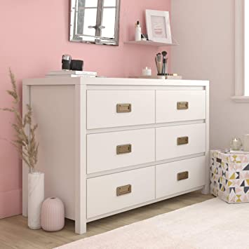 Amazon.com: Little Seeds Monarch Hill Haven 6 Drawer White Kids .