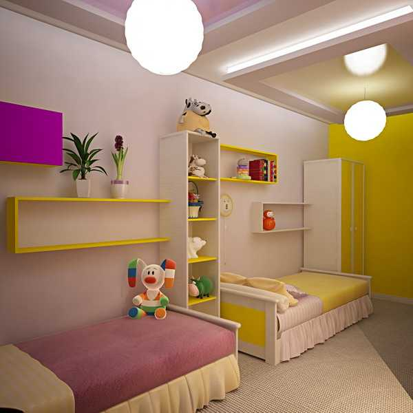 Kids Room Decorating Ideas for Young Boy and Girl Sharing One Bedro