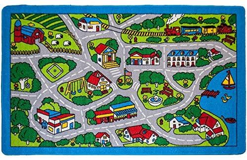 Amazon.com: Mybecca Kids Rugs Street Map in Grey 5' X 7' Childrens .