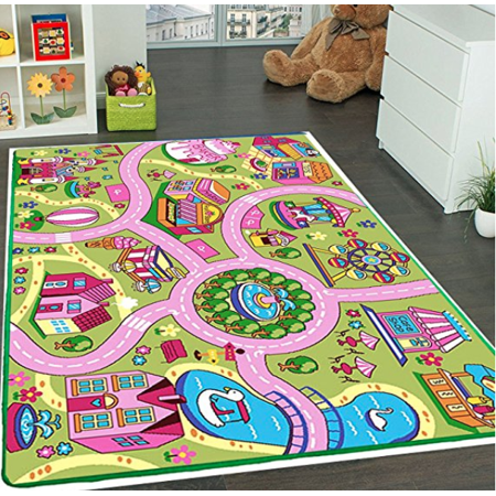 Kids Rug Fun Land Pink Play Rug 5' X 7' Children Area Rug - Non .