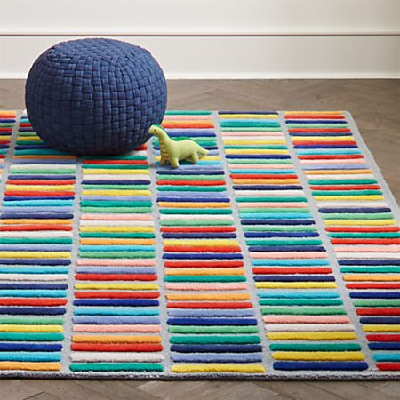 Multi Block Kids Rug | Crate and Barr
