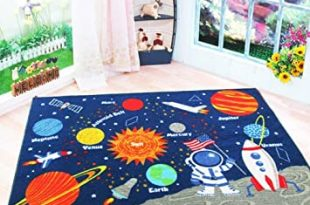 Amazon.com: HEBE Kids Rugs Non Skid Washable Children Educational .