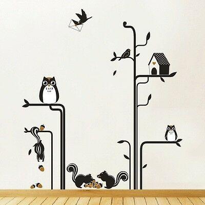 Woodland Animals Wall Art Stickers, Animal Wall Sticker, Kids Wall .