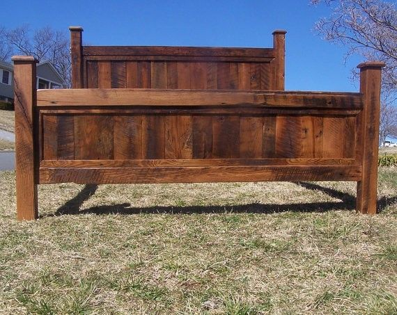 Buy a Hand Made King Size Bed Frame Made From Reclaimed Oak, made .