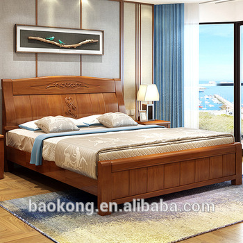 Hot Sell Latest Design Solid Wood King Size Double Bed - Buy .