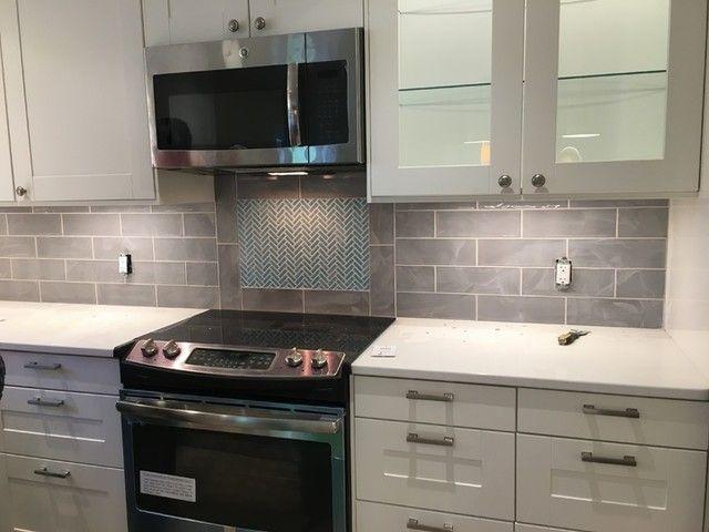 Kitchen backsplash tile - Bulevar Grey Ceramic Wall Tile - 4 x 12 .
