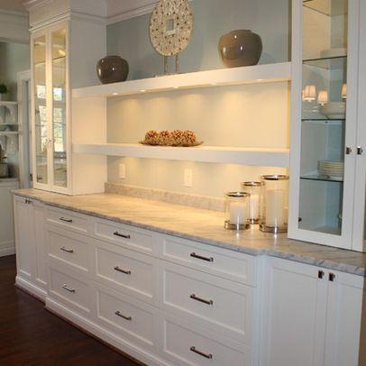 Elegant White Shaker Kitchen Cabinets | Dining room storage .