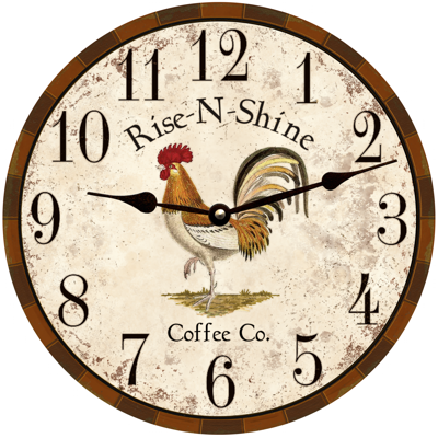 Rooster Clock-Rooster Kitchen Wall Clock-Country Kitchen Clock .