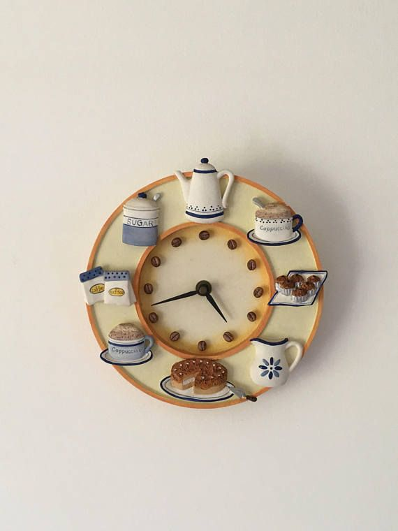 French clock Funky clock Kitchen clock vintage wall clock .