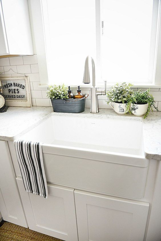 10 Ways to Style Your Kitchen Counter Like a Pro | Kitchen sink .