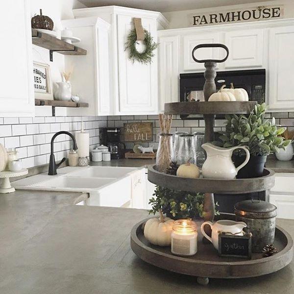 Kitchen Decor Ideas Farmhouse Decor White Cabinets Farmhouse .