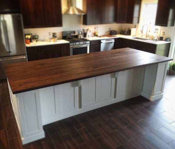 Black Walnut Kitchen Island Top // Counter Top // Wood Counter | Et