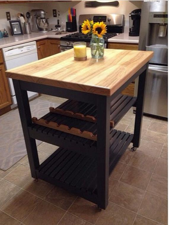 Butcher Block Top Kitchen Island Cart | Et
