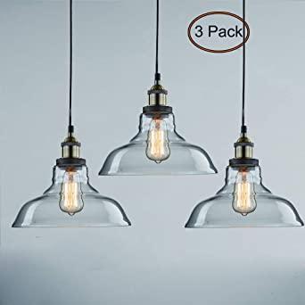 CLAXY Ecopower Industrial Pendant Lighting Glass Kitchen Island .