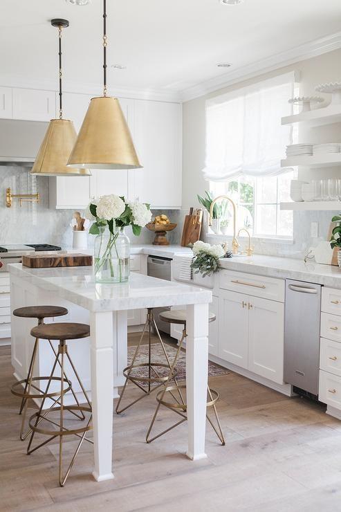 Should I do brass pendant lights in the kitchen? - greige desi