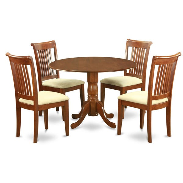 Shop Saddle Brown Small Kitchen Table Plus 4 Dinette Chairs 5 .