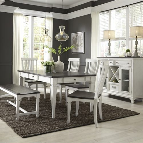 Gray and White Dining Tables at Kitchen Tables and Mo